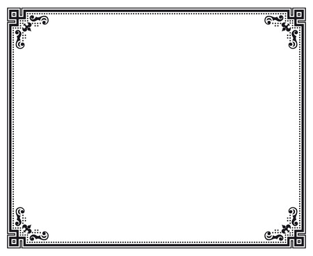 black and white decorative vector frame Vector
