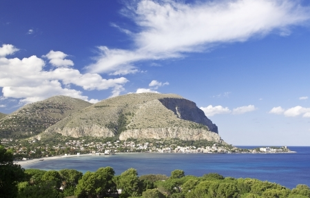 palermo italy: The Gulf of Mondello and Monte Gallo  Palermo, Sicily