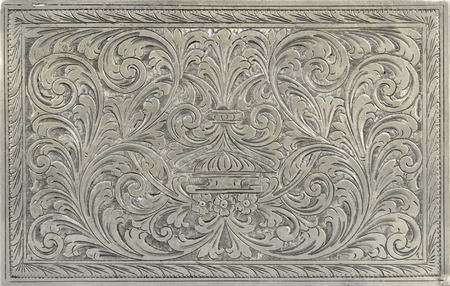 Antique engraved silver, may be used as decoration photo