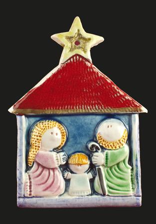 heilige familie: Keramische Flachrelief heilige Familie