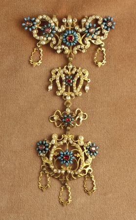 Antique jewel from goldsmiths old tradition of Piana degli Albanesi, Sicily
