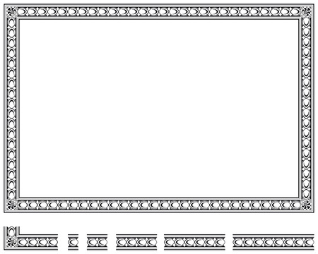 fretwork: Vector frame and modular elements to create others at any size