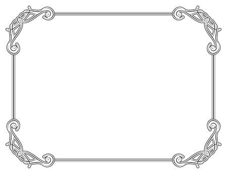 plot: Old style black decorative frame Illustration