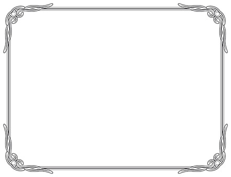 Old style black decorative frame Illustration