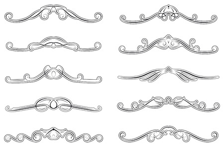 set of ten swirled decorations photo