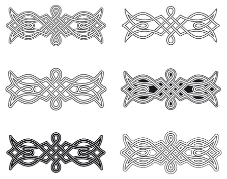 Celtic knot six different arrangements Vector
