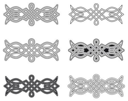 Keltische knoop zes verschillende regelingen