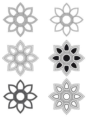 interlace: Celtic knot six different arrangements