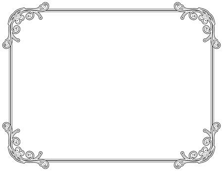 grecas: Viejo estilo negro marco decorativo Vectores