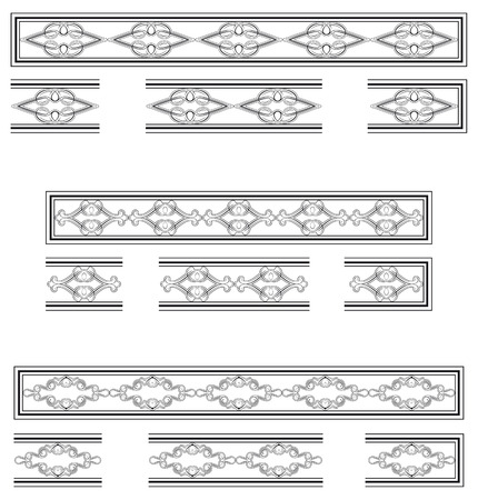 molding: Decorative bands and modular elements