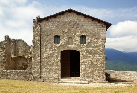san giacomo: Ancient San Giacomo church in Civitella del Tronto, Abruzzo, Italy