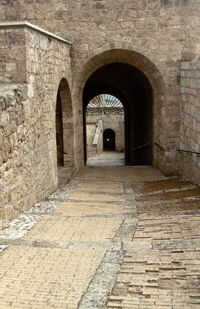 abruzzo: Old portal in Civitella sul Tronto, Abruzzo region, Italy Stock Photo
