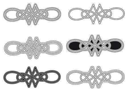 celt: Celtic knot six different arrangements