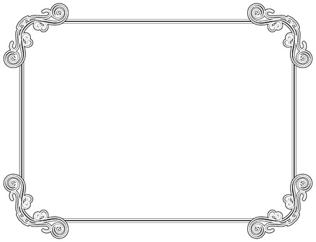 adjust: Old style black decorative frame, very easy to adjust the size