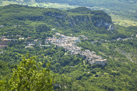 abruzzo: Caramanico Terme is a small touristic town among Majella Mounts, Abruzzo region, Italy Stock Photo
