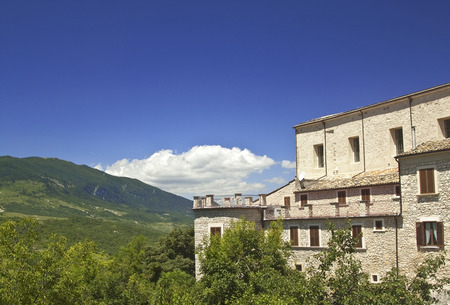 apennines: Old houses and green landscape in Caramanico Terme, Abruzzo region, Italy
