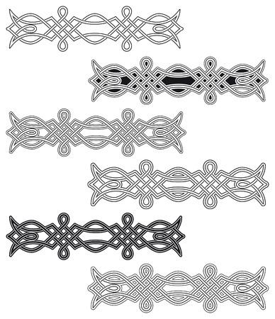 interlaced: Celtic knot six different arrangements