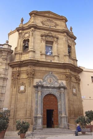 religious building: Addolorata church facade in Marsala, Sicily