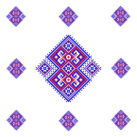 cross stitch: illustration of Ukraine cross stitch ornament.
