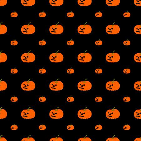 drakula: Vector Halloween pumpkin pattern.