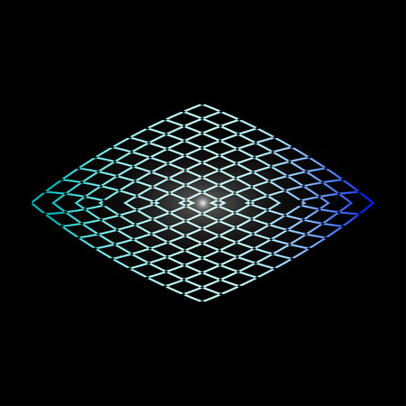star: Vector background with luminescent rhombus.
