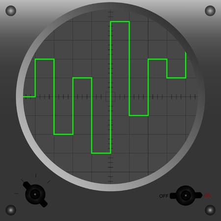 oscilloscope: Vector illustration of oscilloscope.