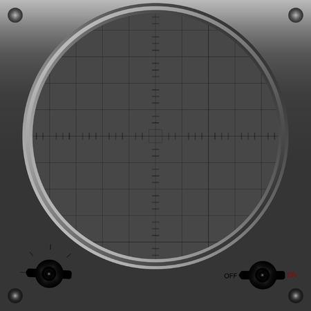 oscilloscope: Vector illustration of oscilloscope standby mode.