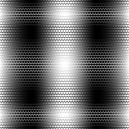 gray matter: Vector illustration of metal rhombus seamless pattern. Illustration
