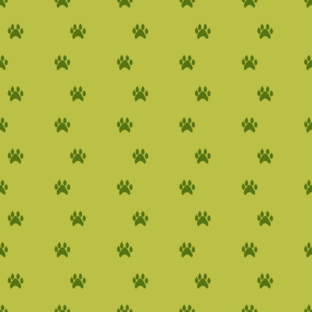 Vector illustration of dog trace seamless pattern.