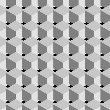 ebon: Vector illustration of seamless pattern background with gray cube.