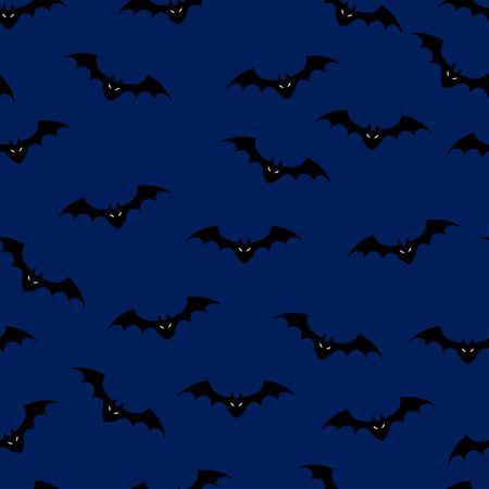 frightful: Vector illustration of bats night seamless pattern background. Illustration