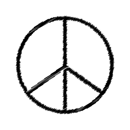 old sign: Vector illustration of pacifist symbol.