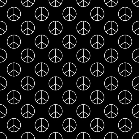 Vector illustration of pacifist seamless pattern background.