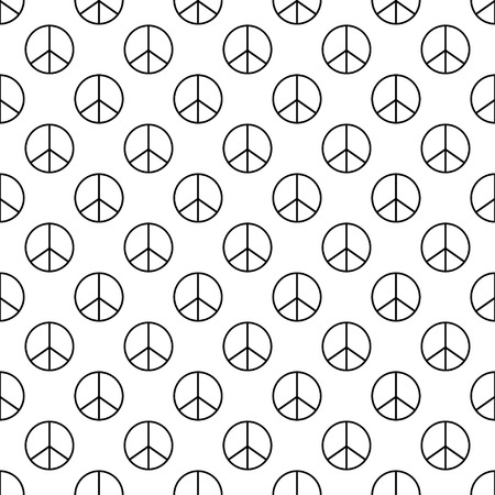 peace treaty: Vector illustration of pacifist seamless pattern background.