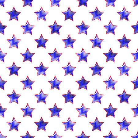 Vector illustration of star seamless pattern background.