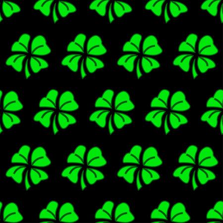 seamless clover: Vector illustration of green clover seamless pattern background. Illustration