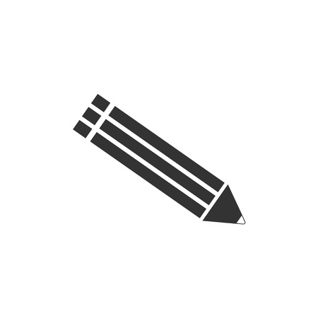 pensil: Vector illustration of flat pensil icon. Illustration