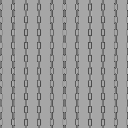 fetter: Vector illustration of gray chain seamless pattern background.