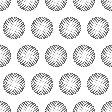 abstract cross: Vector illustration of abstract cross cut gray circles seamless pattern background. Illustration