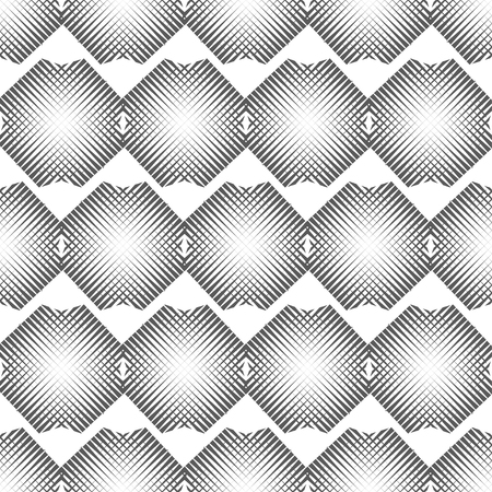 hexagonal shaped: Vector illustration of abstract cross polygons seamless pattern background.