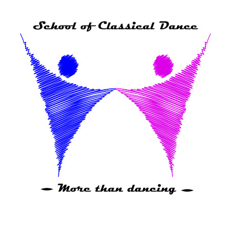 dance school: Vector illustration of dance school logo. Illustration