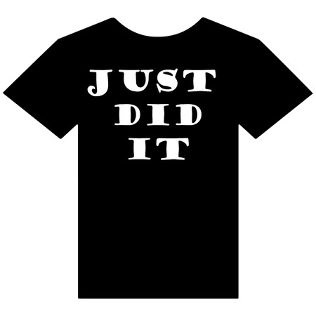 T-shirt with just did it slogan Ilustrace