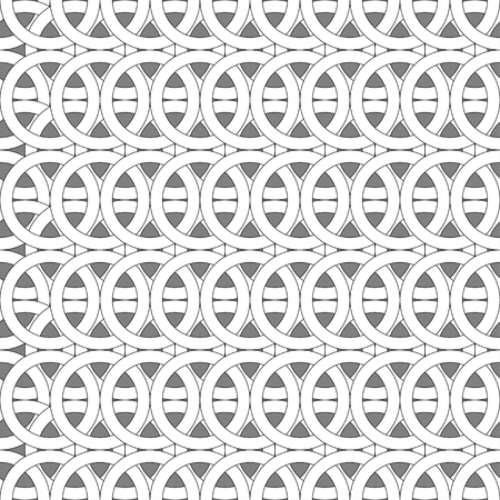 hauberk: Abstract rings seamless pattern background.