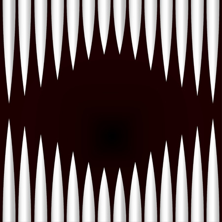 jowl: Illustration of monster teeth abstract background