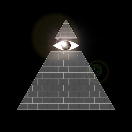 gnostic: Illustration of all-seeing eye symbol Illustration