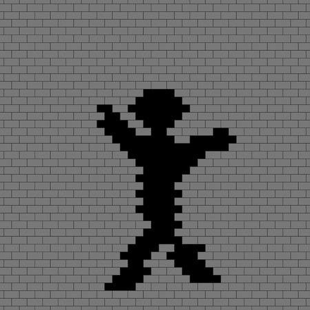 broken wall: Ilustraci�n de la pared rota fondo sin fisuras patr�n. Vectores