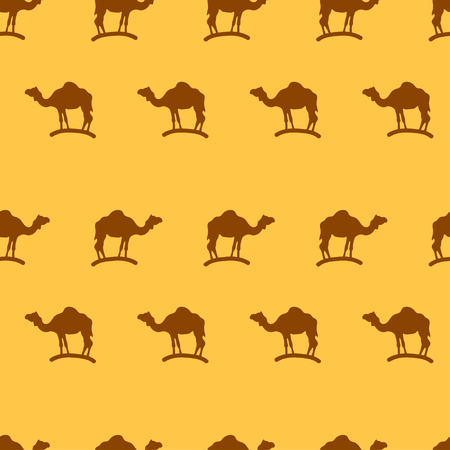 cartoon camel: Illustration of camel seamless pattern background. Illustration