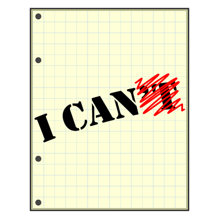 motivating icon. I can do it. Motivation quote.