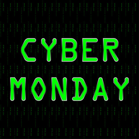 circuit sale: cyber Monday sale in matrix style. Illustration