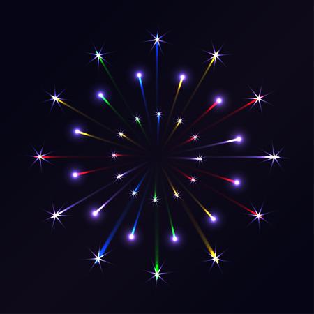 squib: Vector firework on in the night sky.